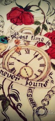 эскиз для тату часы время 19.09.2019 №035 – sketch for tattoo watch time – tatufoto.com