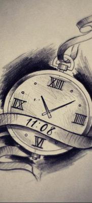 эскиз для тату часы время 19.09.2019 №037 – sketch for tattoo watch time – tatufoto.com