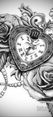эскиз для тату часы время 19.09.2019 №038 – sketch for tattoo watch time – tatufoto.com