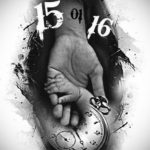 эскиз для тату часы на руке 19.09.2019 №002 - sketch for tattoo watch on ha - tatufoto.com