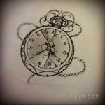 эскиз для тату часы на руке 19.09.2019 №008 - sketch for tattoo watch on ha - tatufoto.com