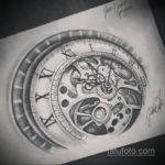 эскиз для тату часы на руке 19.09.2019 №010 - sketch for tattoo watch on ha - tatufoto.com