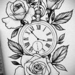 эскиз для тату часы на руке 19.09.2019 №014 - sketch for tattoo watch on ha - tatufoto.com