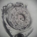 эскиз для тату часы реализм 19.09.2019 №001 - sketch for tattoo watches rea - tatufoto.com