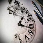 эскиз для тату часы реализм 19.09.2019 №014 - sketch for tattoo watches rea - tatufoto.com