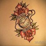 эскиз для тату часы с розами 19.09.2019 №011 - sketch for tattoo watch with - tatufoto.com