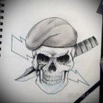 эскиз для тату череп простой 15.09.2019 №042 - sketch for tattoo skull simple - tatufoto.com