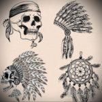 эскиз для тату череп простой 15.09.2019 №053 - sketch for tattoo skull simple - tatufoto.com