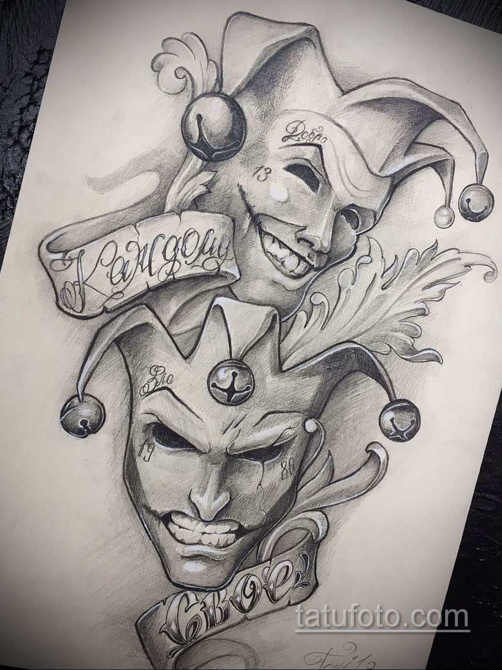 эскиз тату надпись чикано 14.09.2019 №015 - Chicano tattoo sketch - tatufoto.com