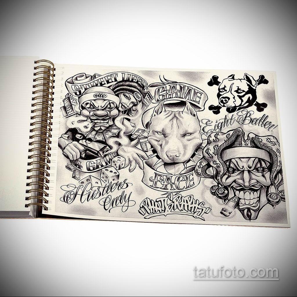 эскиз тату надпись чикано 14.09.2019 №016 - Chicano tattoo sketch - tatufoto.com