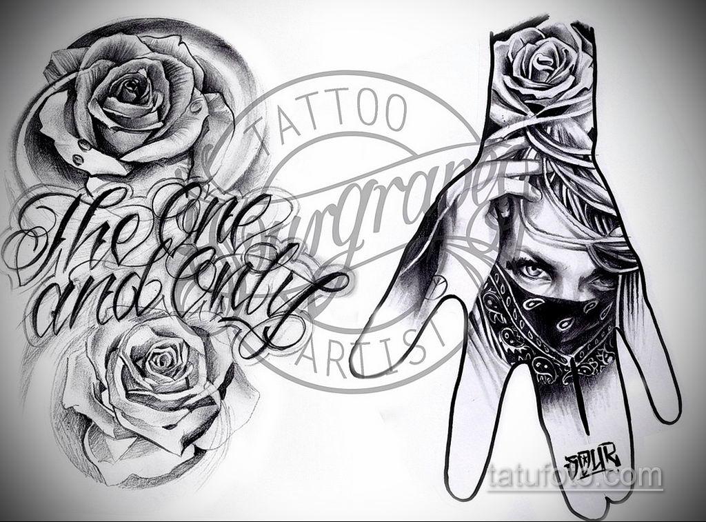 эскиз тату надпись чикано 14.09.2019 №017 - Chicano tattoo sketch - tatufoto.com