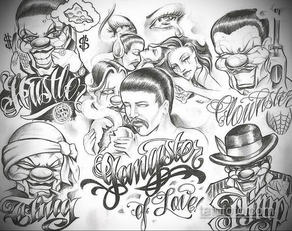 эскиз тату надпись чикано 14.09.2019 №021 - Chicano tattoo sketch - tatufoto.com