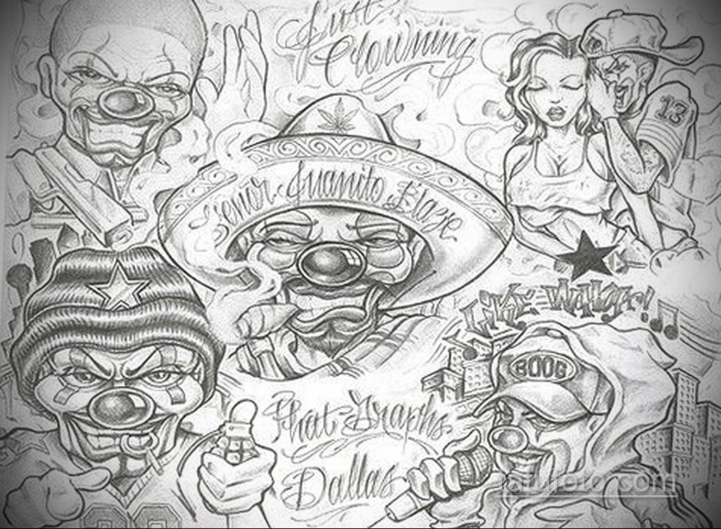 эскиз тату надпись чикано 14.09.2019 №023 - Chicano tattoo sketch - tatufoto.com