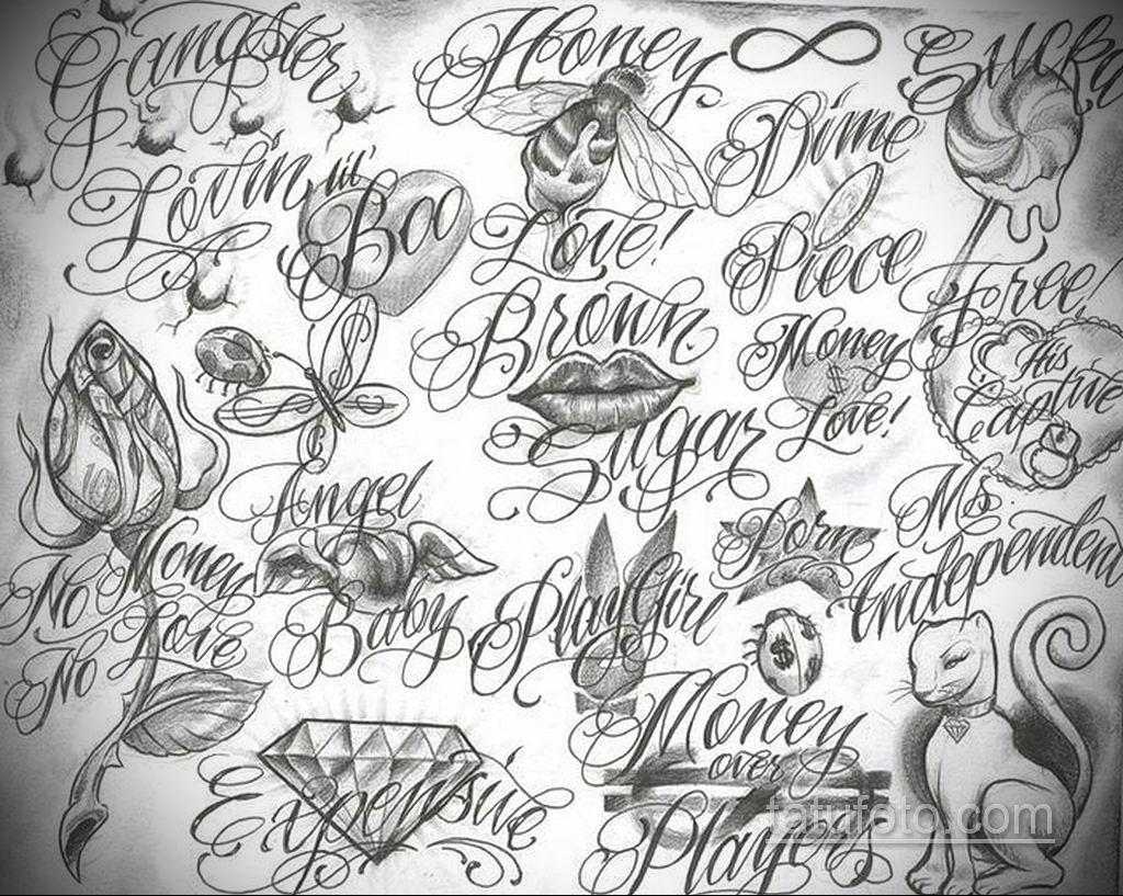 эскиз тату надпись чикано 14.09.2019 №026 - Chicano tattoo sketch - tatufoto.com