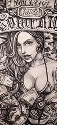 эскиз тату надпись чикано 14.09.2019 №028 – Chicano tattoo sketch – tatufoto.com