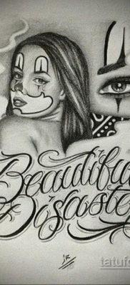 эскиз тату надпись чикано 14.09.2019 №030 – Chicano tattoo sketch – tatufoto.com