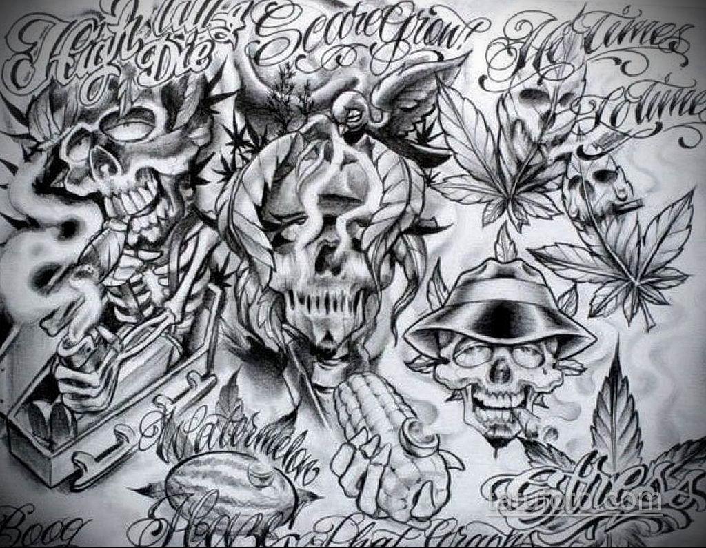 эскиз тату надпись чикано 14.09.2019 №032 - Chicano tattoo sketch - tatufoto.com