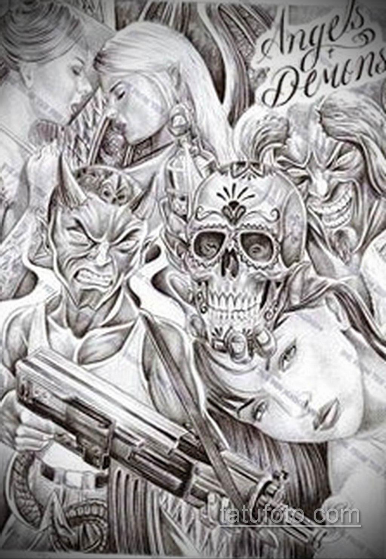 эскиз тату надпись чикано 14.09.2019 №034 - Chicano tattoo sketch - tatufoto.com
