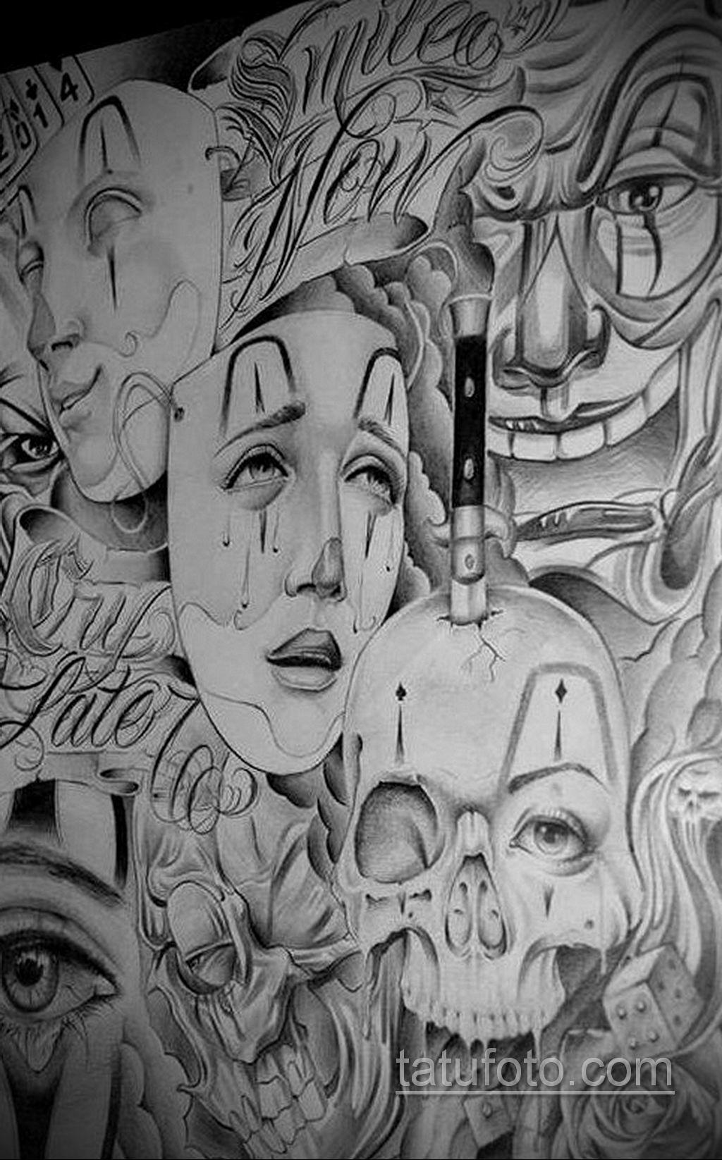 эскиз тату надпись чикано 14.09.2019 №038 - Chicano tattoo sketch - tatufoto.com