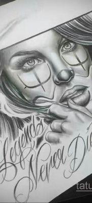 эскиз тату надпись чикано 14.09.2019 №040 – Chicano tattoo sketch – tatufoto.com