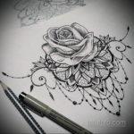 эскиз тату на щиколотке женские 14.09.2019 №003 - sketch of ankle tattoo - tatufoto.com