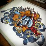 эскиз тату олд скул цветной 16.09.2019 №010 - sketch tattoo old school color - tatufoto.com