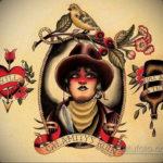 эскиз тату олд скул цветной 16.09.2019 №011 - sketch tattoo old school color - tatufoto.com