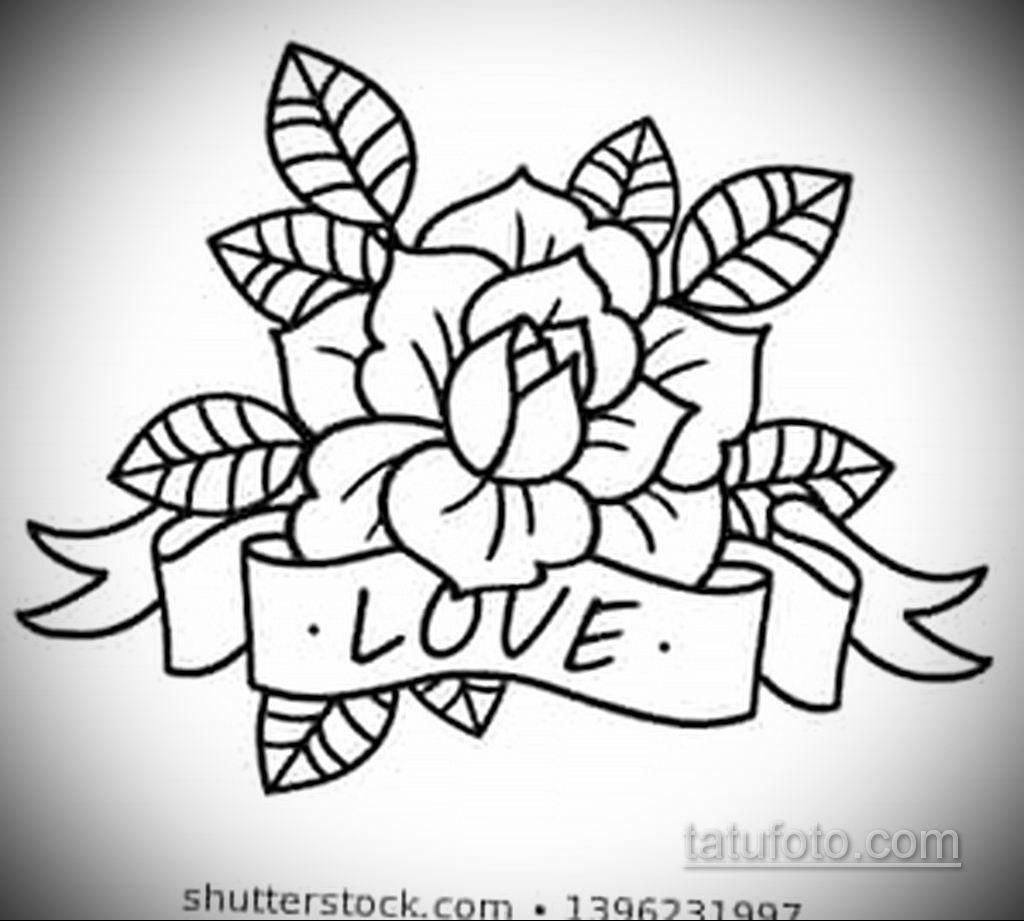 эскиз тату роза с надписью 14.09.2019 №002 - sketch rose tattoo with the ins - tatufoto.com