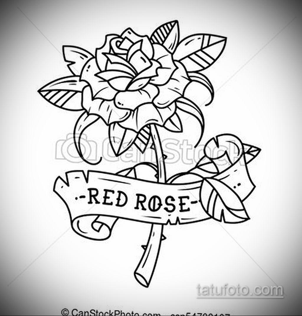 эскиз тату роза с надписью 14.09.2019 №004 - sketch rose tattoo with the ins - tatufoto.com