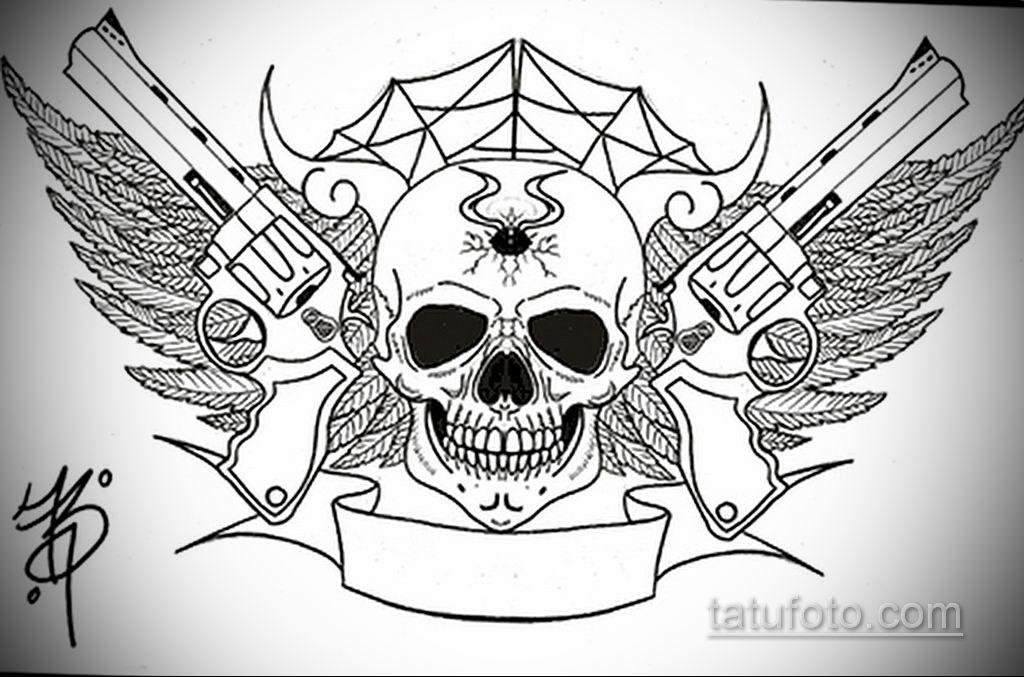 эскиз тату черные черепа 17.09.2019 №023 - black skull tattoo sketch - tatufoto.com