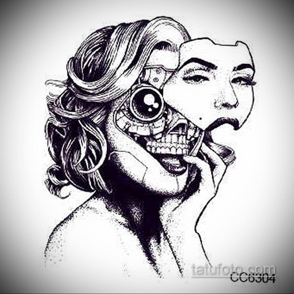 эскиз тату черные черепа 17.09.2019 №043 - black skull tattoo sketch - tatufoto.com