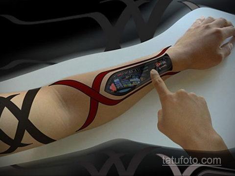 Фото пример на тему тату будущего 22.10.2019 №001 -tattoo of the future- tatufoto.com
