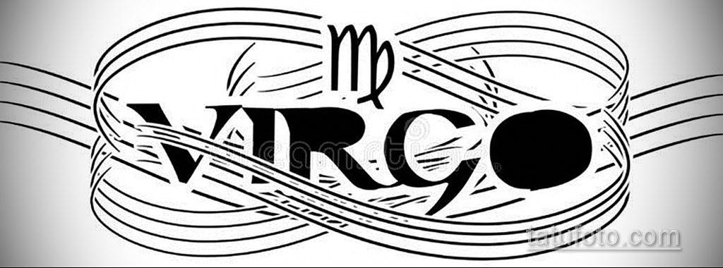 Эскиз для татуировки дева 06.10.2019 №001 -Sketch for Virgo Tattoo- tatufoto.com
