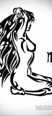 Эскиз для татуировки дева 06.10.2019 №005 -Sketch for Virgo Tattoo- tatufoto.com