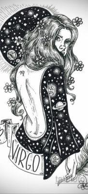 Эскиз для татуировки знак девы 06.10.2019 №001 -Virgo Tattoo- tatufoto.com