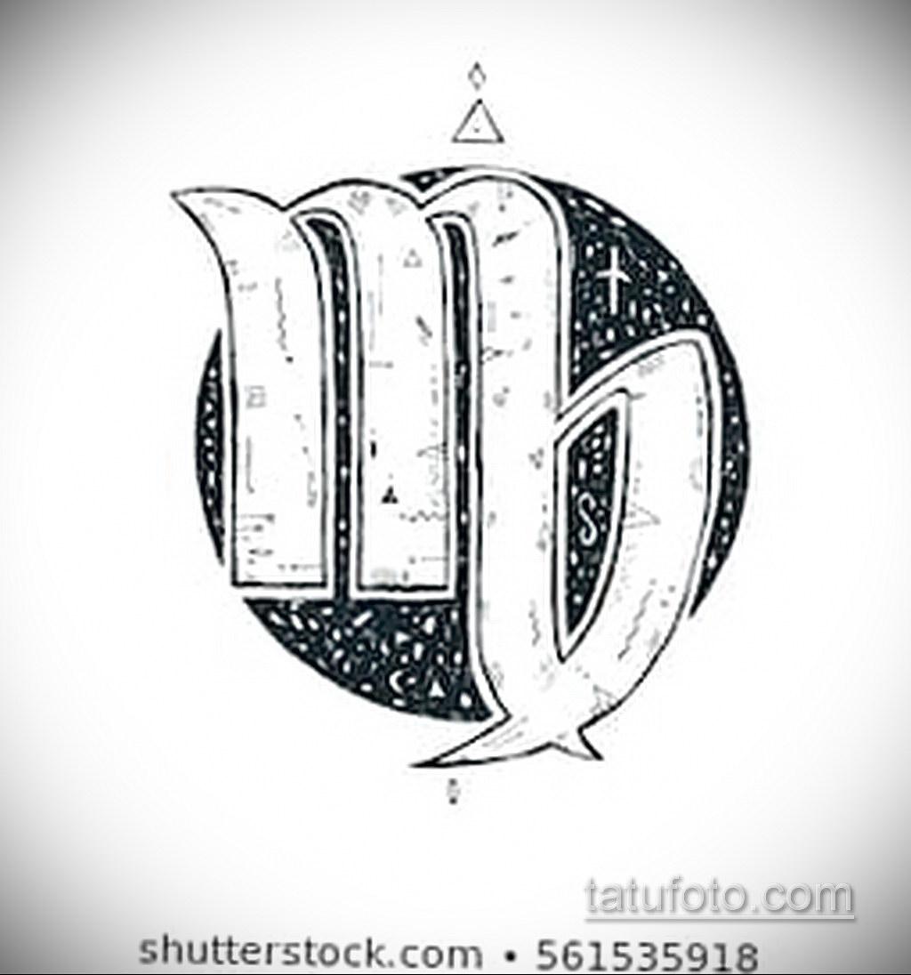 Эскиз для татуировки знак зодиака дева 06.10.2019 №004 -Virgo Tattoo- tatufoto.com