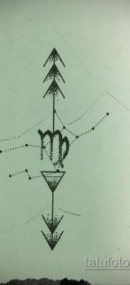 Эскиз для татуировки созвездие девы 06.10.2019 №001 -Virgo Tattoo- tatufoto.com