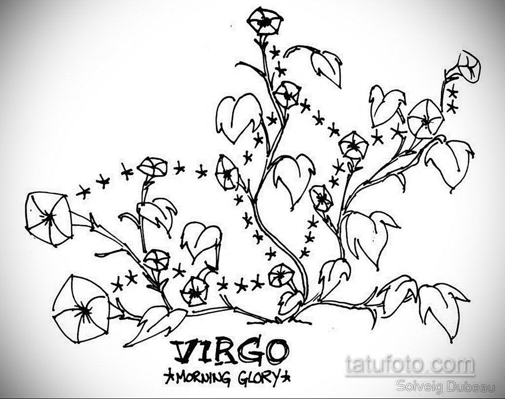 Эскиз для татуировки созвездие девы 06.10.2019 №005 -Virgo Tattoo- tatufoto.com