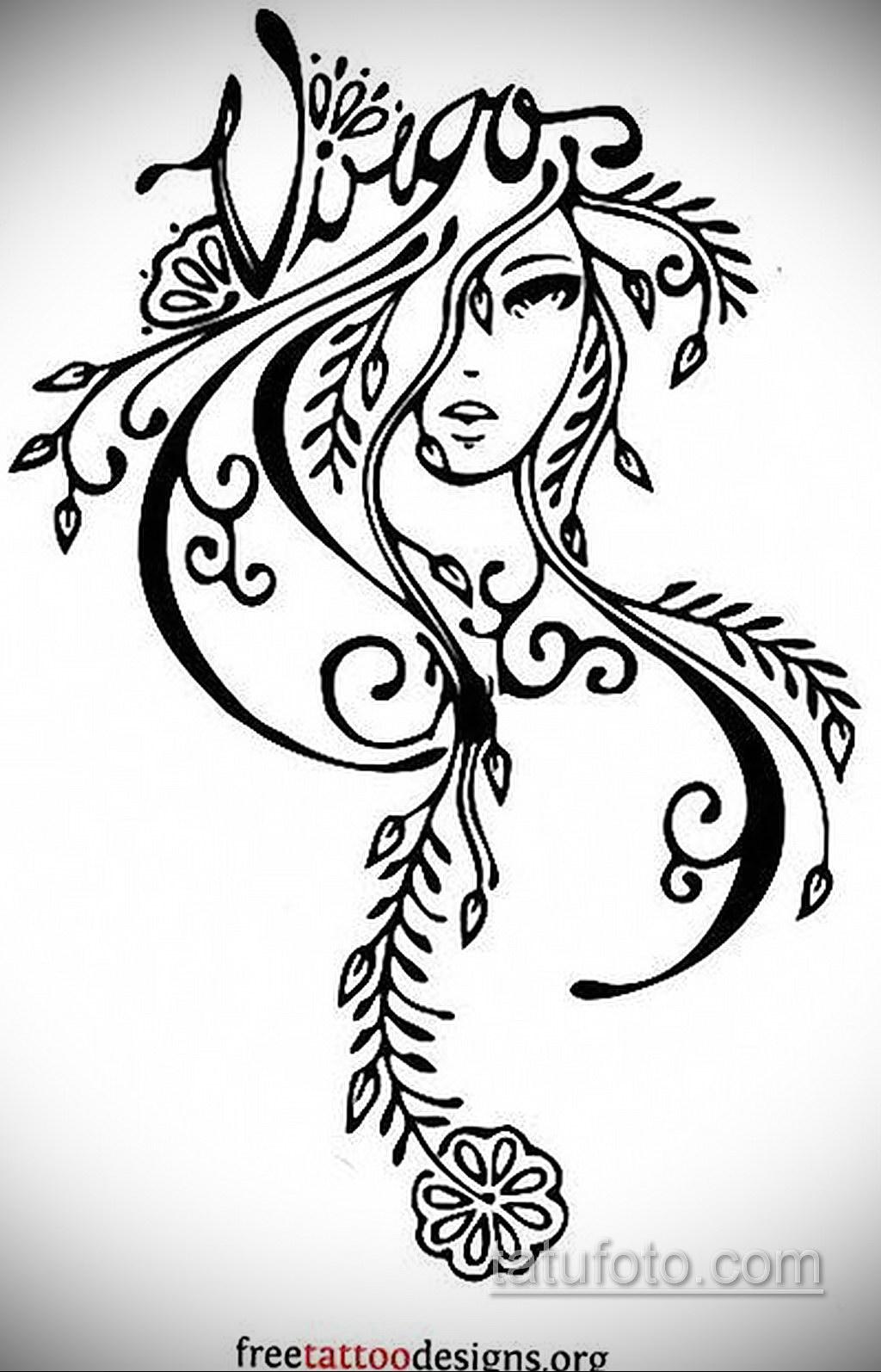 Эскиз для татуировки созвездие девы 06.10.2019 №006 -Virgo Tattoo- tatufoto.com