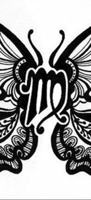 Эскиз для тату знак зодиака дева женский 03.10.2019 №003 -Virgo Tattoo- tatufoto.com