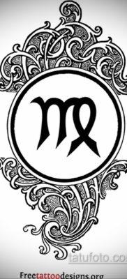 Эскиз для тату знак зодиака дева мужской 06.10.2019 №004 -Tattoo sketch- tatufoto.com