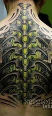 биомеханика тату на спине 31.10.2019 №017 – back biomechanics tattoo – tatufoto.com