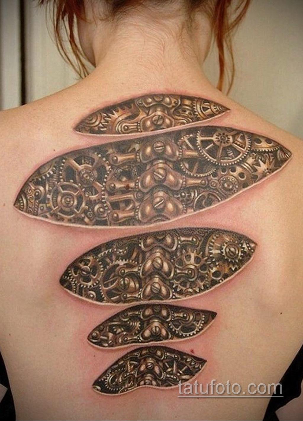 женские тату биомеханика 31.10.2019 №001 - biomechanics tattoo - tatufoto.com