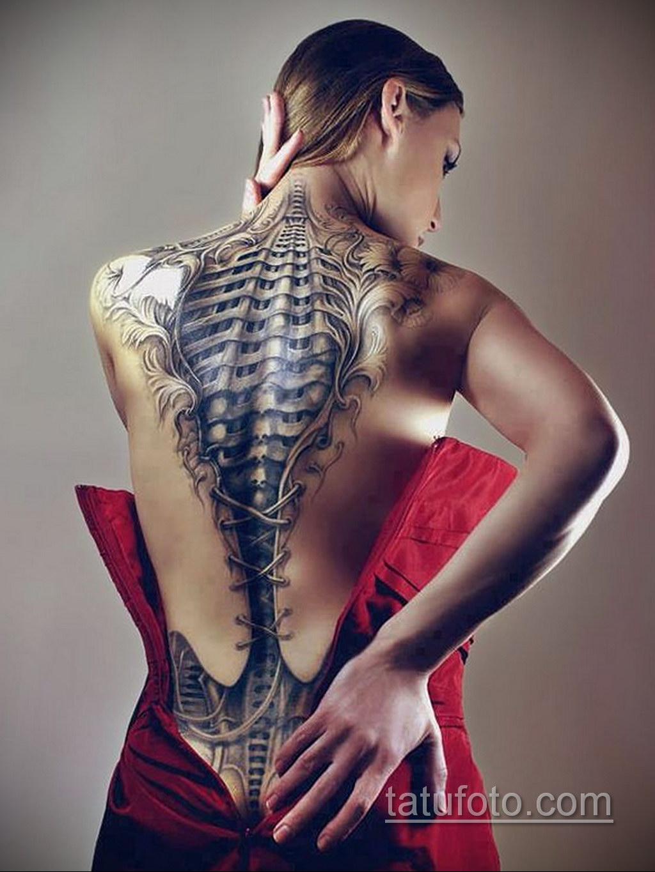 женские тату биомеханика 31.10.2019 №002 - biomechanics tattoo - tatufoto.com