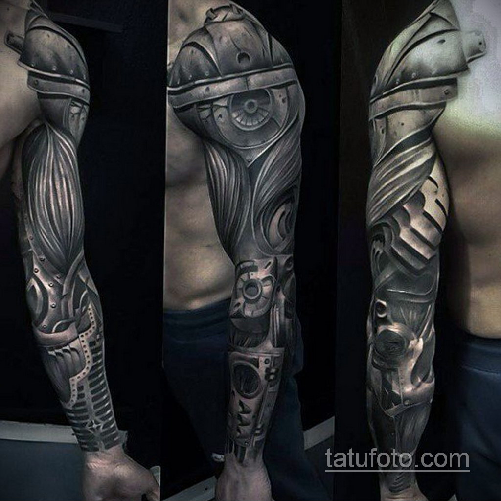 мужская тату биомеханика 31.10.2019 №001 - biomechanics tattoo - tatufoto.com