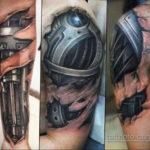 мужская тату биомеханика 31.10.2019 №003 - biomechanics tattoo - tatufoto.com