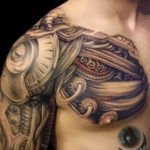 мужская тату биомеханика 31.10.2019 №010 - biomechanics tattoo - tatufoto.com