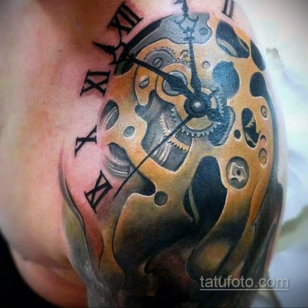мужская тату биомеханика 31.10.2019 №011 - biomechanics tattoo - tatufoto.com