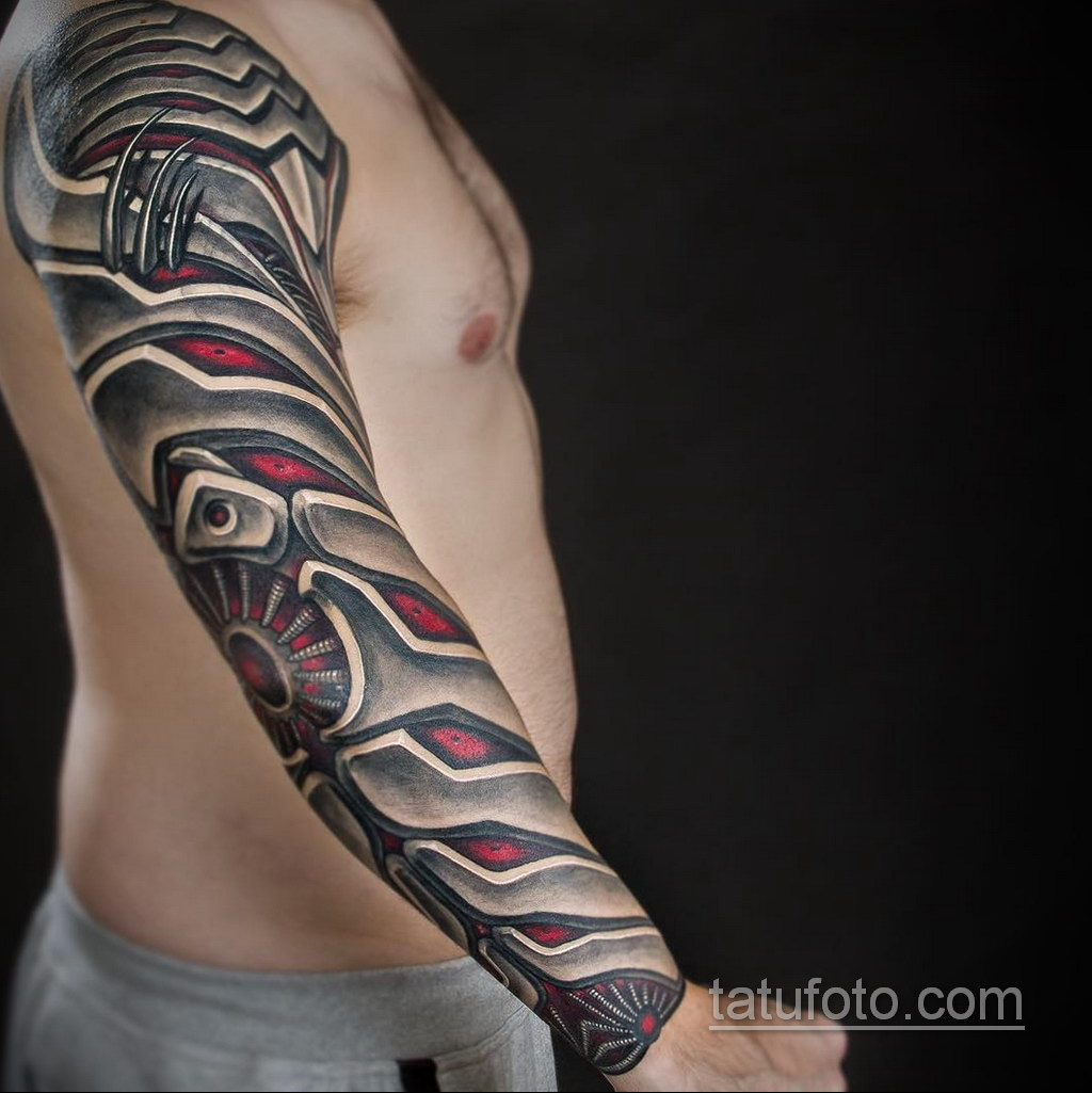 мужская тату биомеханика 31.10.2019 №016 - biomechanics tattoo - tatufoto.com