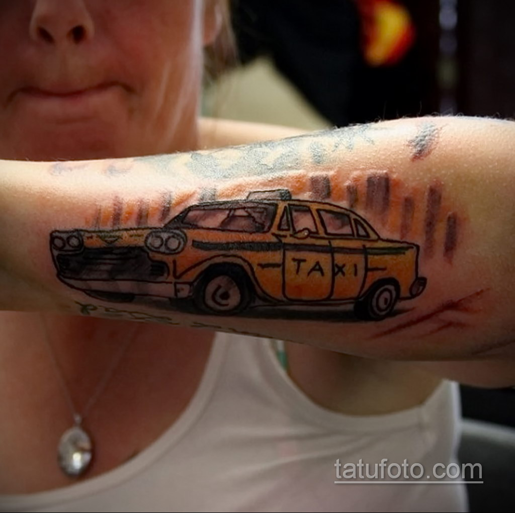 на фото тату и автомобиль 03.10.2019 №015 -tattoo and car- tatufoto.com